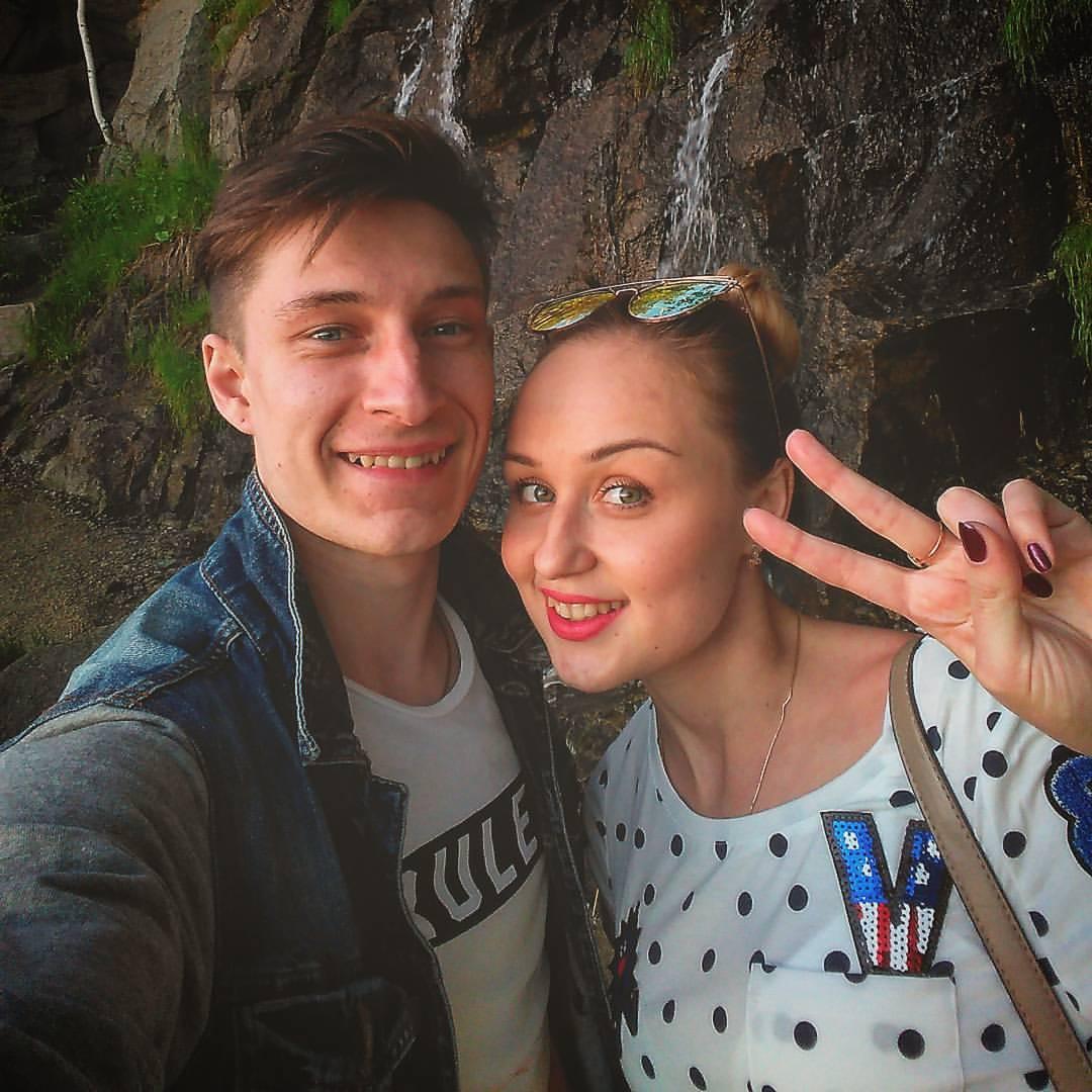 Сергей Штепс и его девушка Рита Минеева