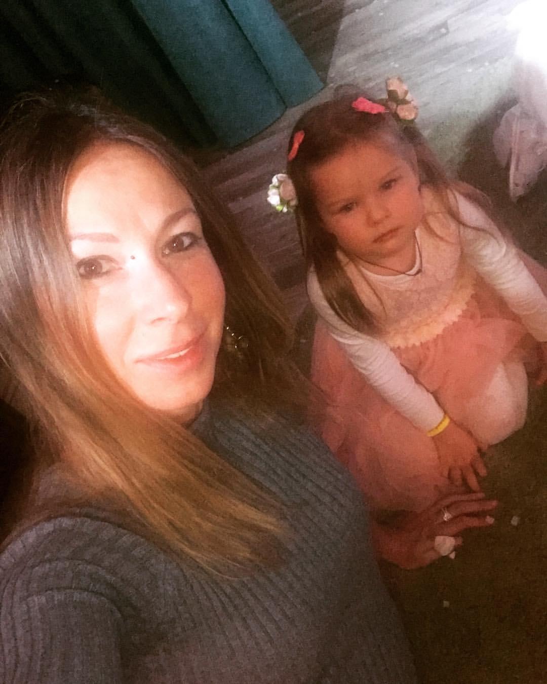 Елена Лисовская с дочкой