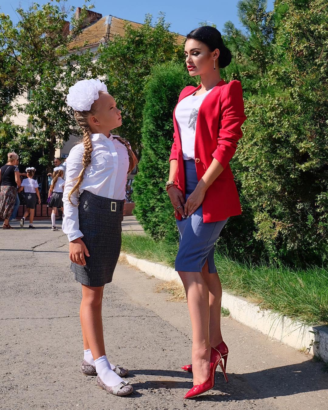 Екатерина Салина с дочкой