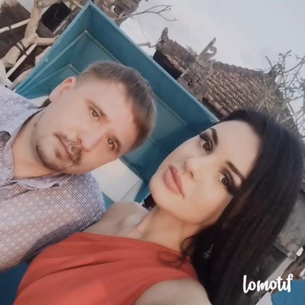 Екатерина Салина с мужем